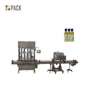 Otomatis botol piston 1-5L mesin pelumas cair mengisi mesin minyak