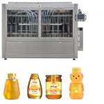 Automatic Servo Piston Type Sauce Honey Jam Viskositas Tinggi Liquid Filling Capping Labeling Line Mesin